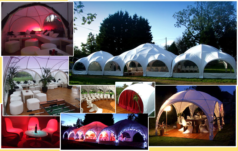 Photograph of lovely dome marquees from Hector's Haus